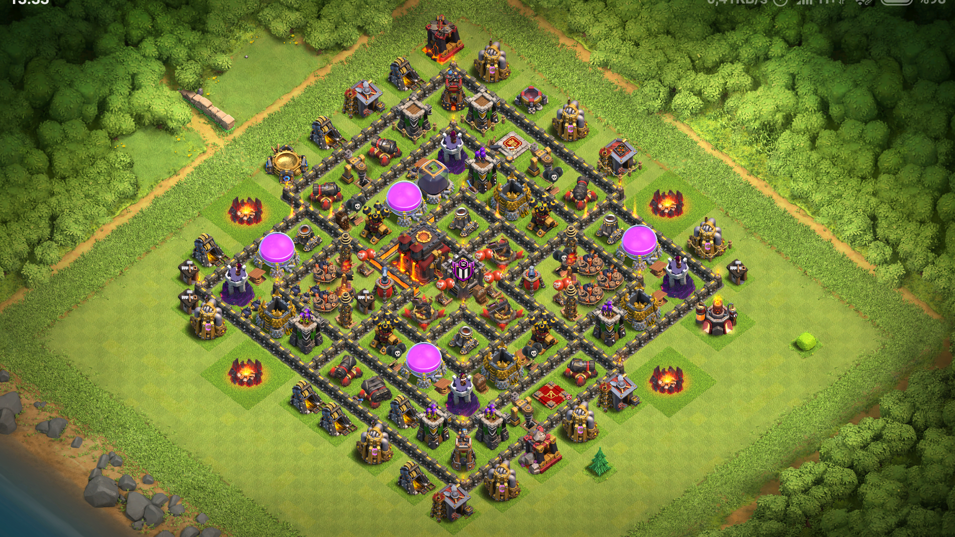 Clash of clans 10. seviye köy binası düzeni